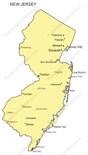 new jersey powerpoint map