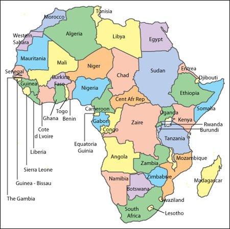 editable africa map free