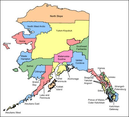 Alaska Map for Websites Clickable HTML Image Map