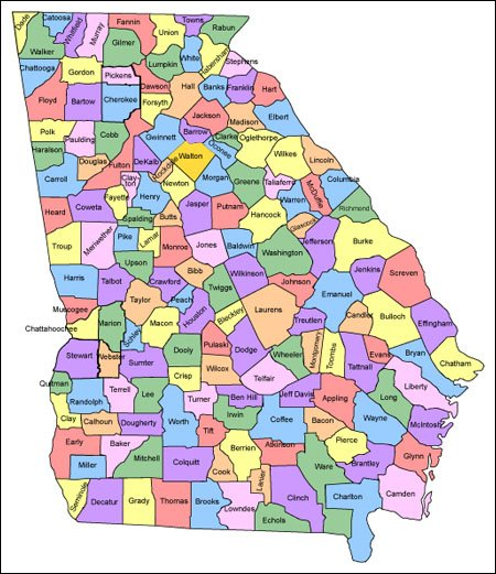 Georgia Map For Websites Clickable HTML Image Map - Georgia maps