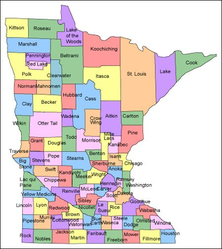 Minnesota Map For Websites Clickable HTML Image Map - Maps of minnesota