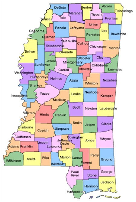 Mississippi Map - Maps mississippi