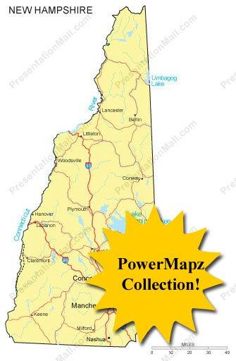 New Hampshire Map - PowerMapz Pack
