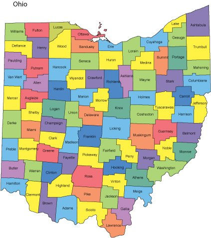Ohio Map With Counties