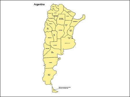 Map of Argentina with Provinces