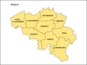 Map of Belgium with Provinces