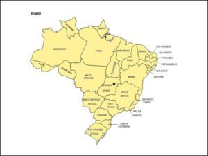 Map of Brazil with Provinces