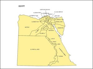 Map of Egypt with Provinces