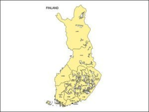 Map of Finland with Provinces