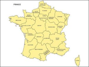 Map of France with Provinces