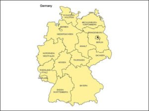 Map of Germany with Provinces