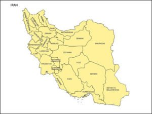 Map of Iran with Provinces