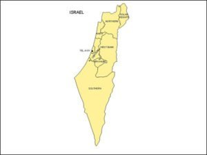 Map of Israel with provinces