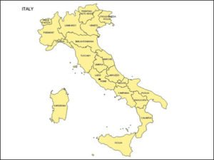 Map of Italy with Provinces