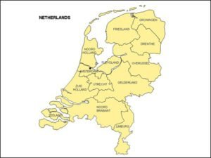 Netherlands Map with Provinces