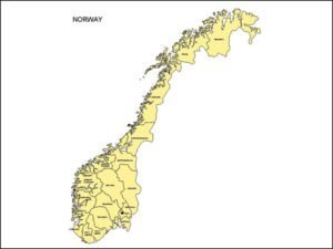 Map of Norway with Provinces