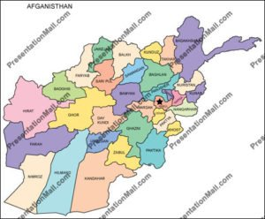 Map of Afghanistan with Provinces
