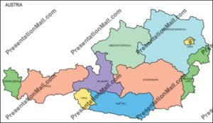 Map of Austria with Provinces