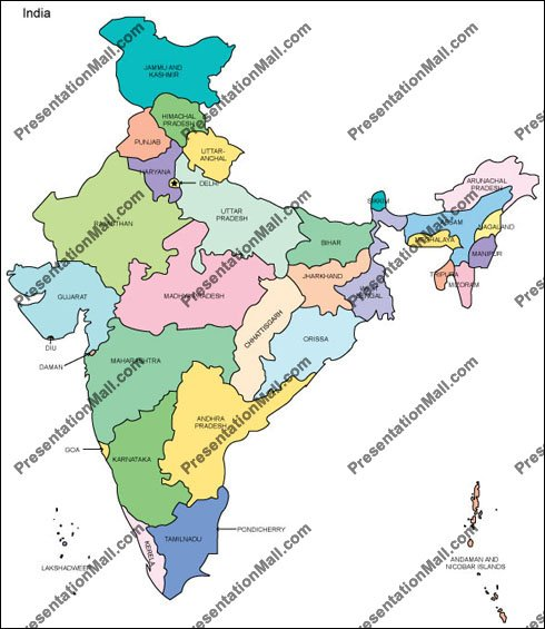 Map of india editable vector illustrator pdf and wmf india map gumiabroncs Image collections