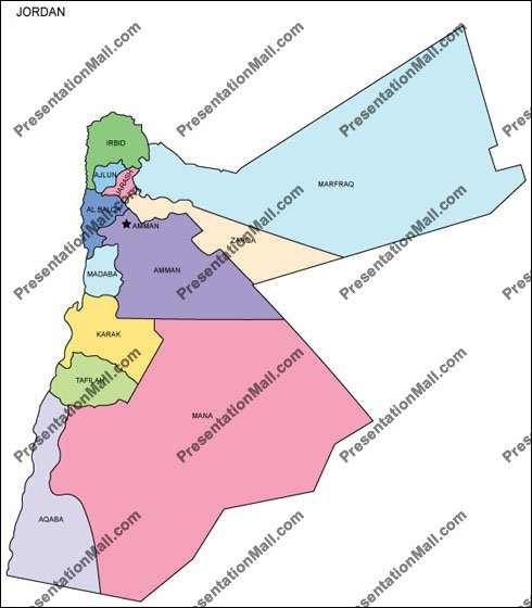Map - Jordan map hd pdf