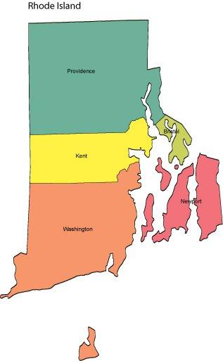 rhode island powerpoint map