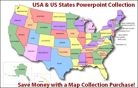 USA & US States Clickable HTML Map Collection