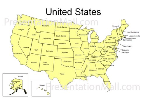 United States Map Ppt.Editable United States Powerpoint Map