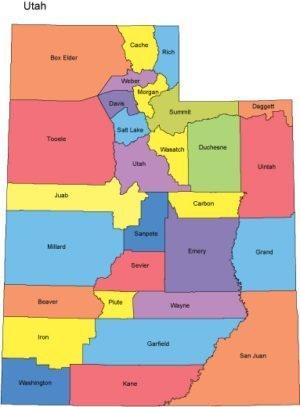 Utah Digital Vector Map