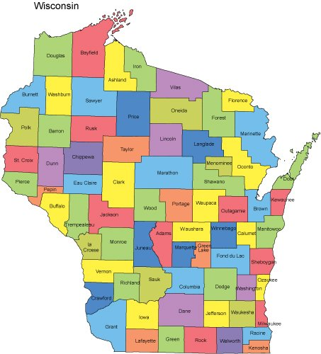 map of wisconsin counties tennessee map