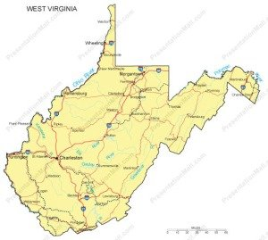 West Virginia Map Counties Major Cities And Major Highways - Map of west virginia with counties and cities